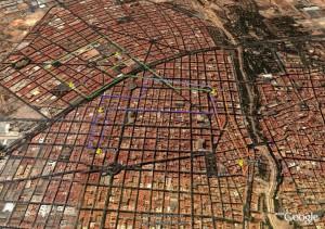 Cálculo y representación de rutas en 3D