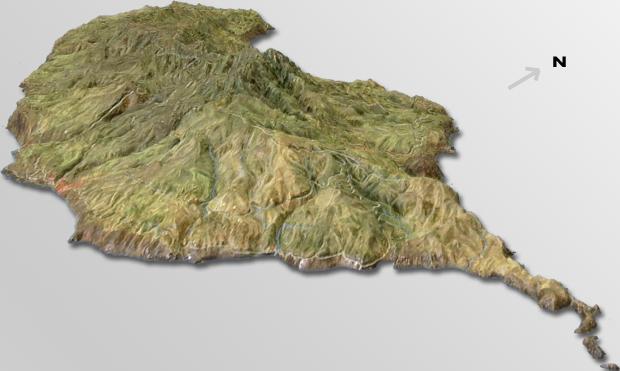 Relieve 3D de Madeira