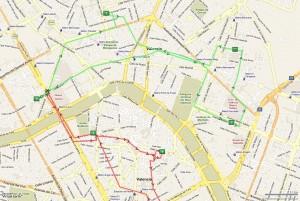 Itinerarios con vector de ruta