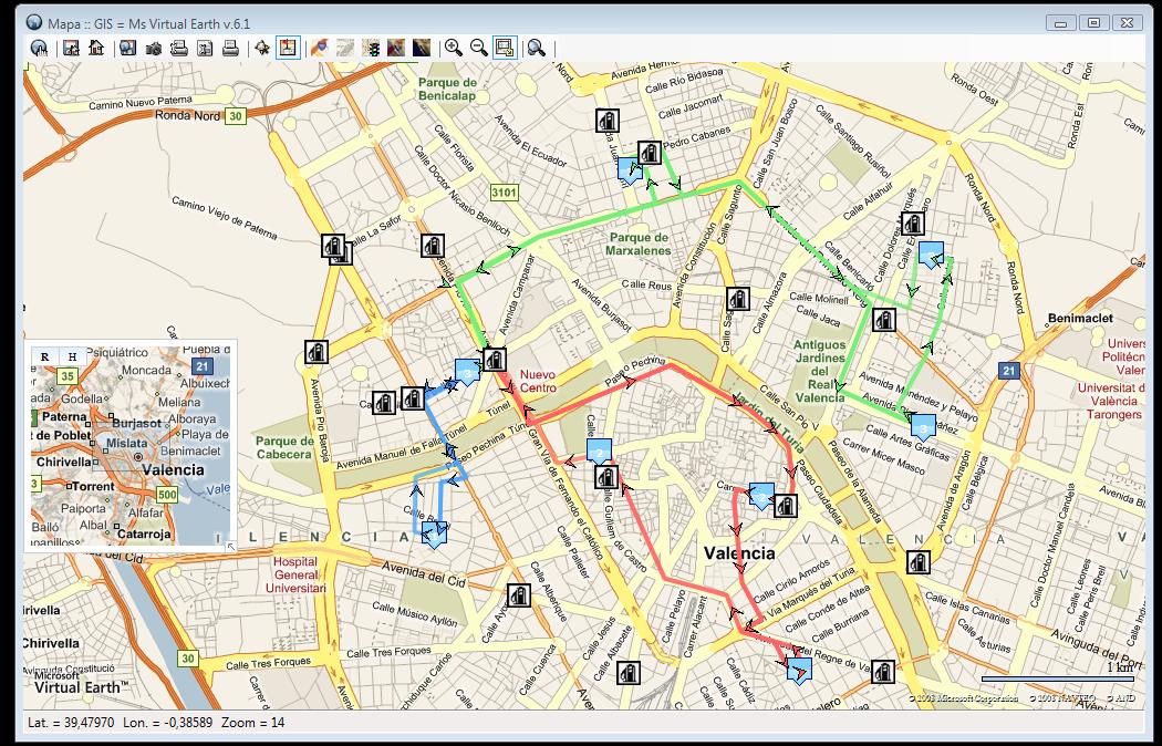 Búsqueda y representación de puntos de interés (POIs) próximos a las rutas