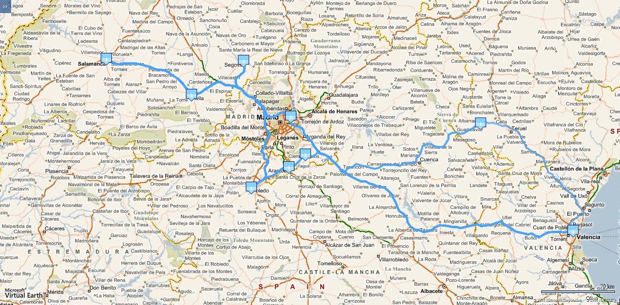 Rutas - itinerarios con alta resolución