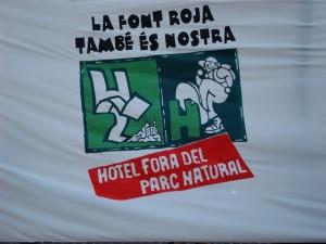La Font Roja es de todos. Hotel fuera del parque natural.