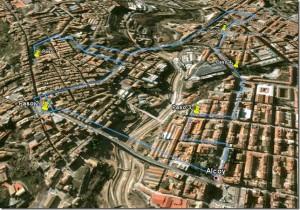 Rutas caminando con Google Maps