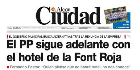 Amenaza de Fernando Pastor edil de 'grandes proyectos' PP - Alcoy