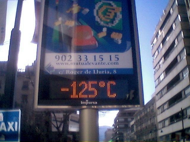 WTF? -125ºC en Alcoi