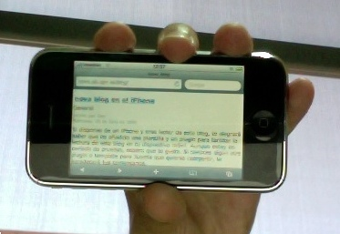 nova blog para el iPhone