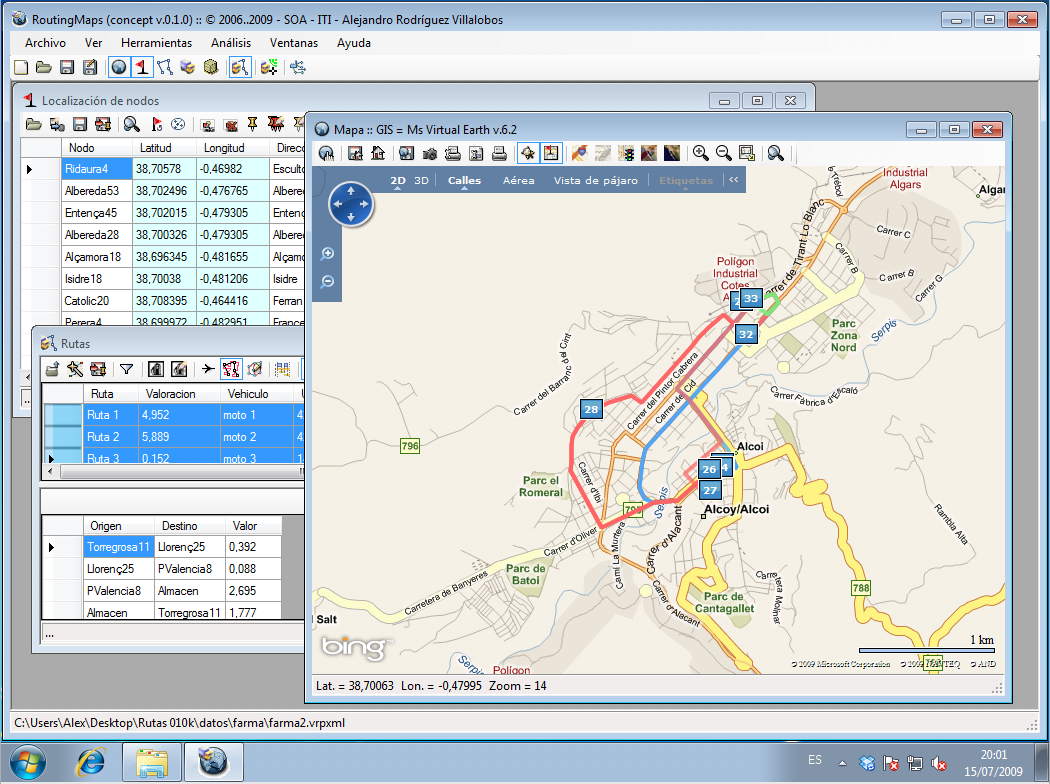 Rutas en Windows 7