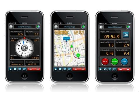 MotionX para el iPhone 3GS