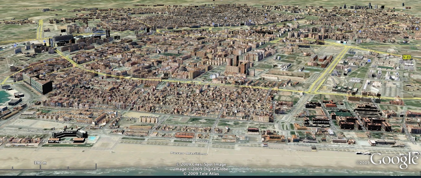 Valencia 3D en Google Earth
