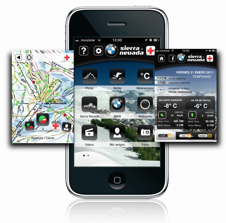 Aplicación de Sierra Nevada para el iPhone
