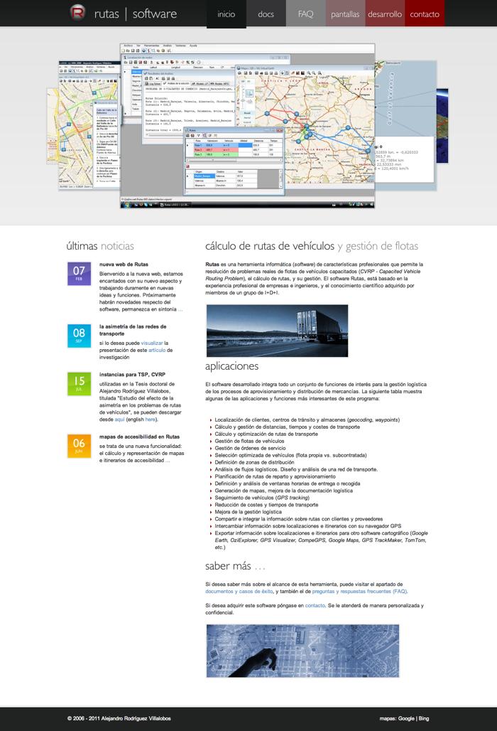 Rutas - software para el cálculo de rutas y gestión de flotas