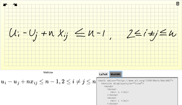 dibujado de ecuaciones a LaTeX
