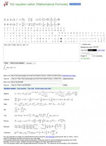 editor de ecuaciones TeX en la web