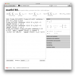 mathURL – compartiendo ecuaciones en LaTeX