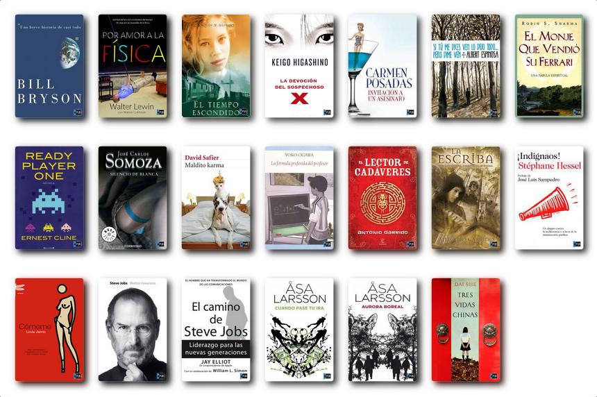 libros leídos en 2012