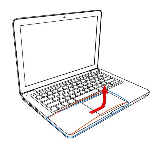 Macbook Pro con batería vieja que genera problemas de clic en trackpad