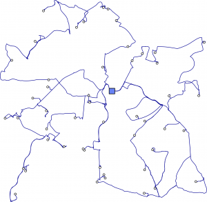 Instances for depot location in realistic and asymmetric vehicle routing problems (ACVRP)