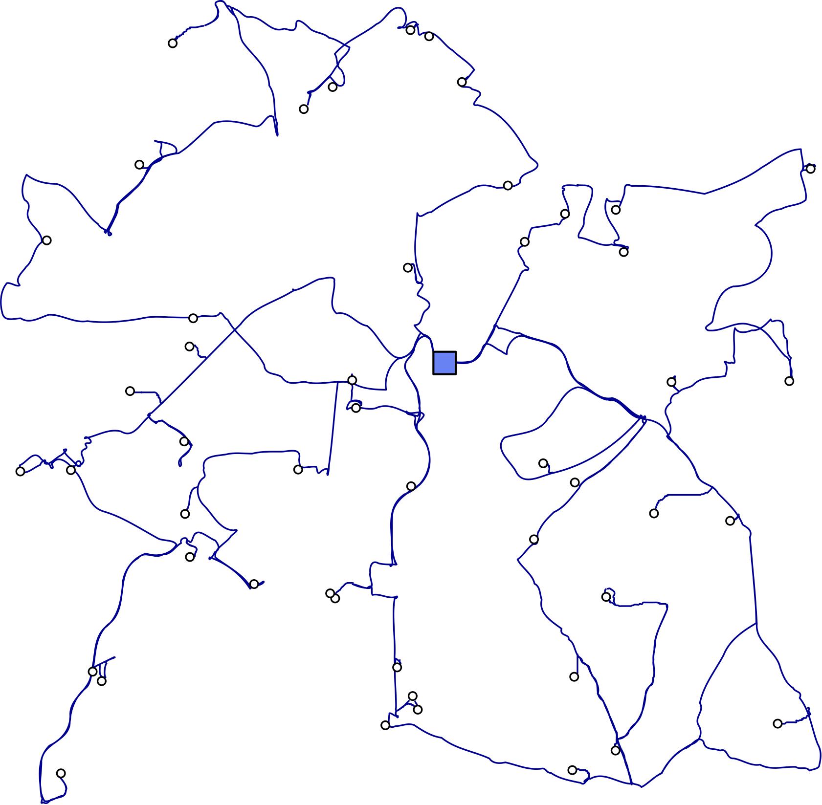 Instances ACVRP - depot