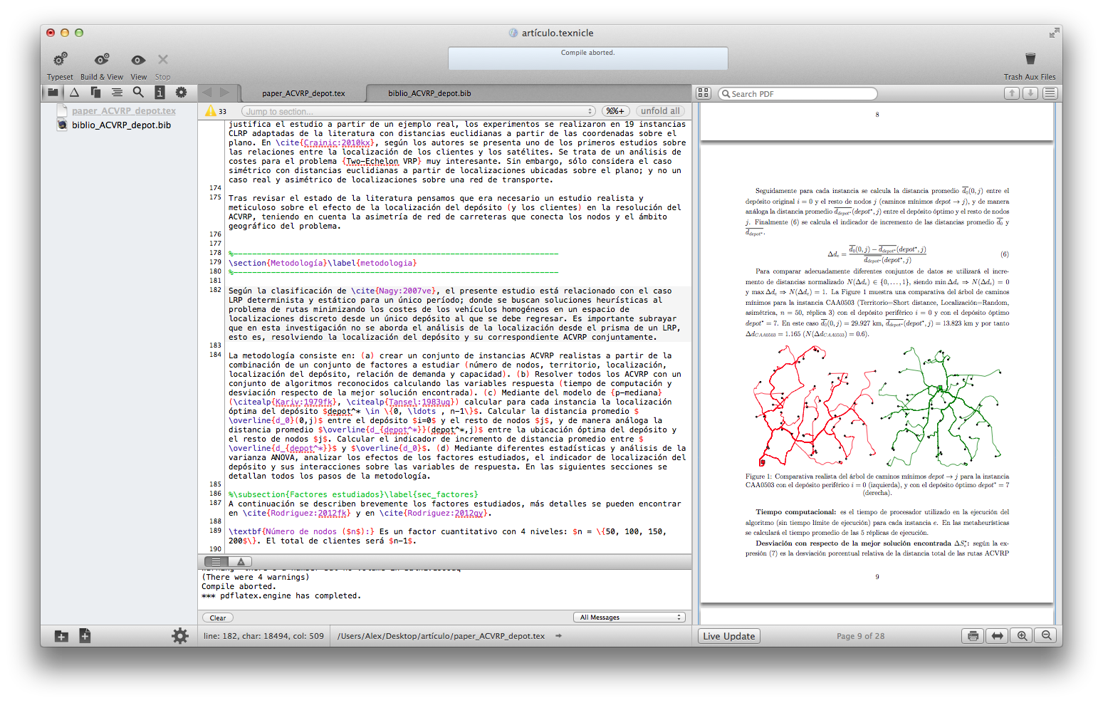 TeXnicle - un editor de LaTeX para Mac OS X - Prof. Dr. Alex ...
