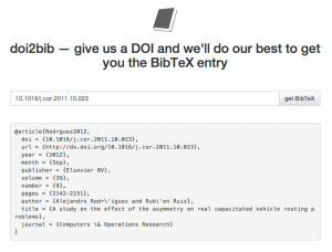 doi2bib – cómo conseguir la referencia BibTeX a partir del DOI de un artículo
