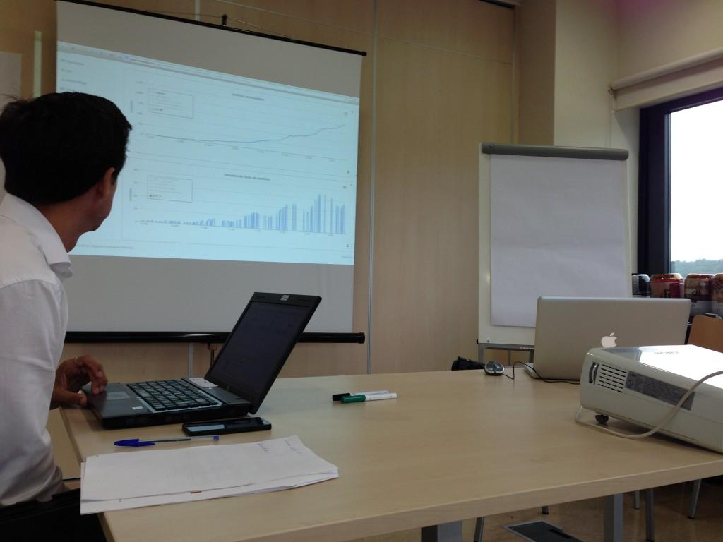 implexa muestra los resultados y gráficos en tiempo real