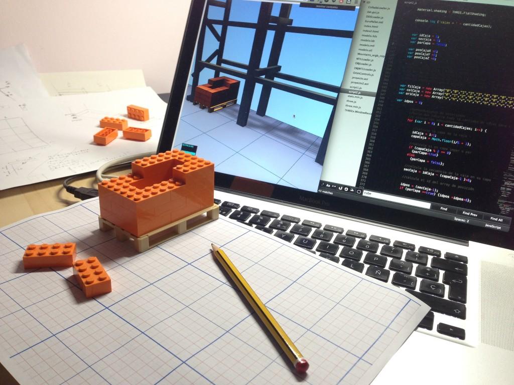 programando el almacén de LLOG en 3D