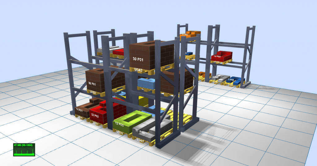 LLOG muestra un almacén 3D en tiempo real