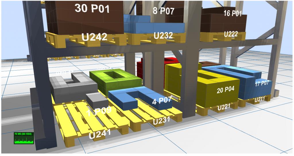 LLOG 3D muestra con máximo nivel de detalle el almacén virtual