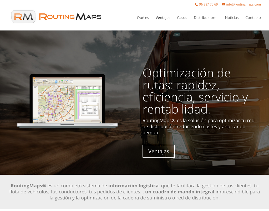 nueva web de RoutingMaps - software para la optimización de rutas de transporte