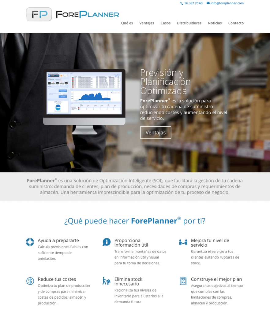 ForePlanner - es la solución para optimizar tu cadena de suministro reduciendo costes y aumentando el nivel de servicio.