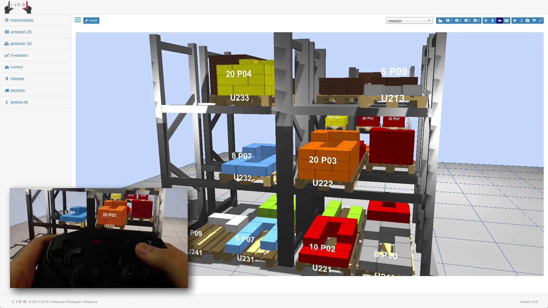 LLOG - navegando e interactuando con un almacén de realidad virtual