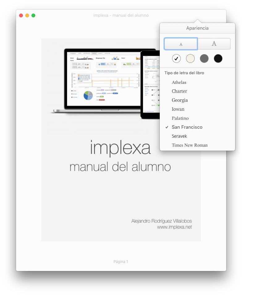 implexa - manual del alumno - libro electrónico para