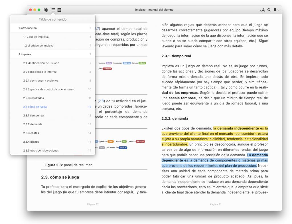 implexa - manual del alumno - libro electrónico para iBooks