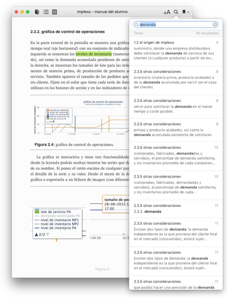 buscando textos en iBooks