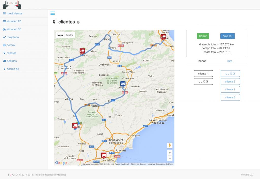 LLOG - construyendo y calculando rutas de reparto alternativas