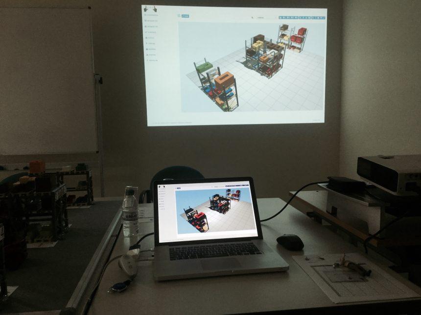 Vista en 3D del almacén de LLOG