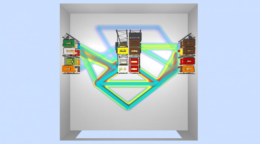 flujos físicos de salida y mapa de actividad de picking en el almacén