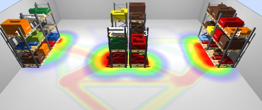 Ubicaciones y recorridos en el almacén virtual de LLOG