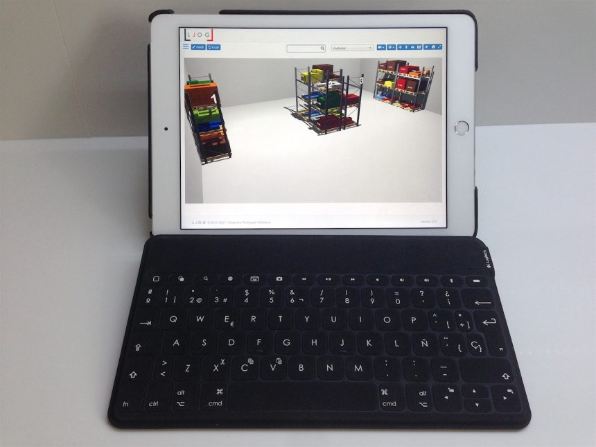 Almacén virtual de LLOG en un iPad multi-touch