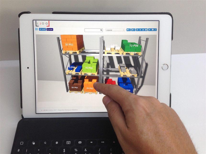 LLOG manejando el almacén virtual de forma multi-táctil