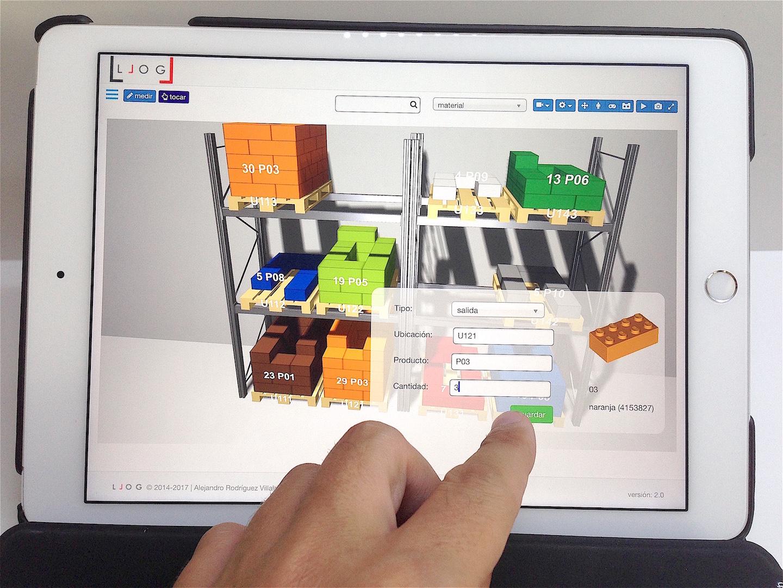 ordenando movimientos en el almacén virtual de LLOG con un sólo toque