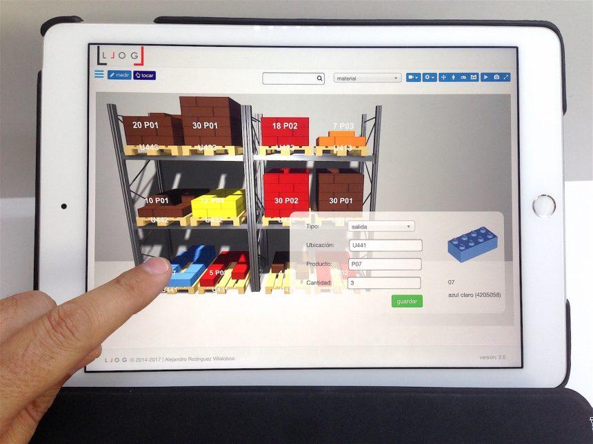 la gestión de las operaciones logísticas del almacén a un dedo de distancia