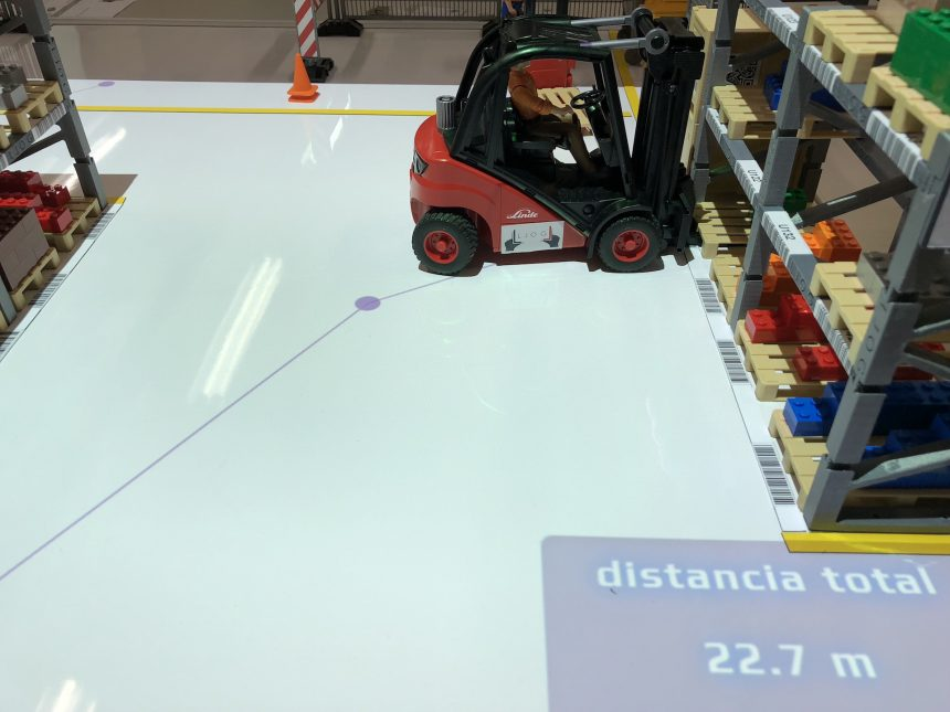 logística visual: cálculo de recorridos dentro del almacén