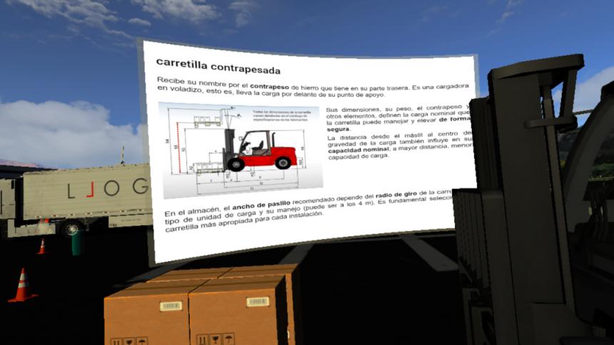 LLOG VR te permite aprender logística desde una perspectiva real.