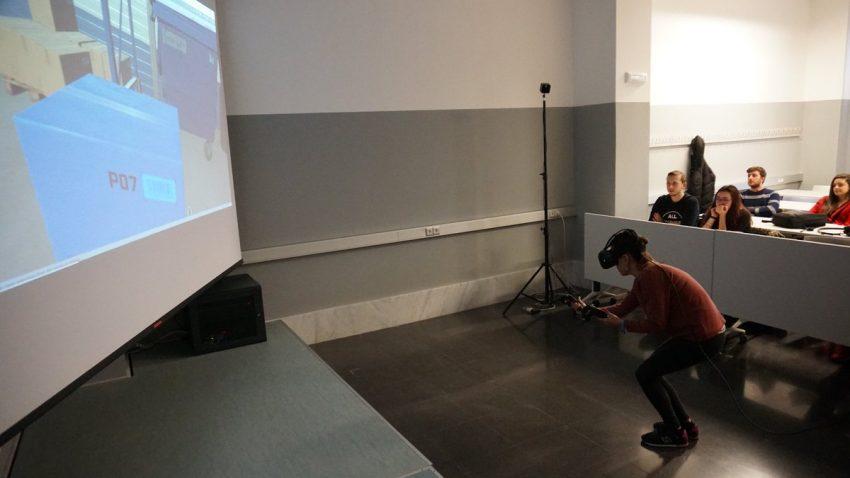 espacio de realidad virtual en el aula