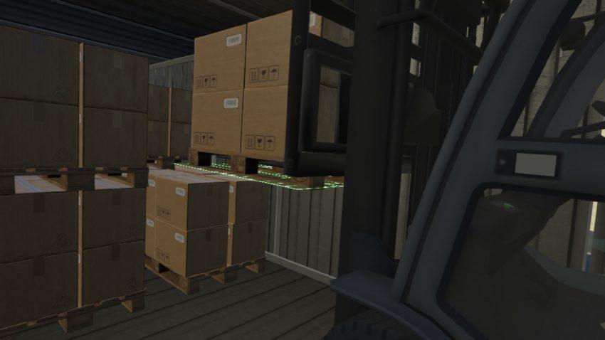 LLOG VR simulando la carga y descarga de un camión en realidad virtual