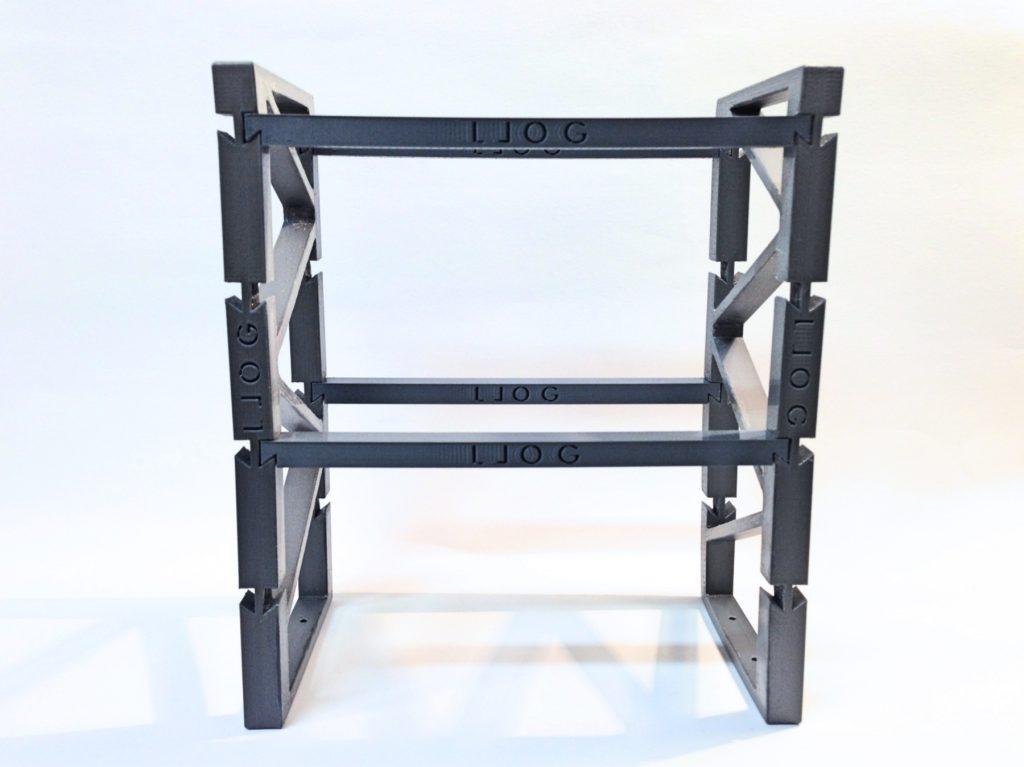 La estantería de LLOG impresa en 3D.