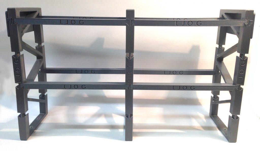 La impresión 3D de un pasillo de estanterías para LLOG